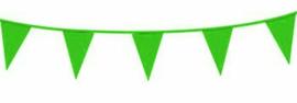 Vlaggenlijn/ vlagslinger lime groen (10m)