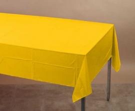 Effen kleur feestartikelen Geel tafelkleed