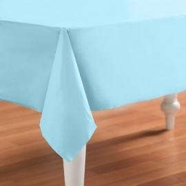 Effen kleur feestartikelen - Pastel blauw tafelkleed