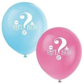 Boy or Girl? Gender Reveal feestartikelen - Latex ballonnen (8st)