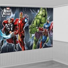 Avengers feestartikelen grote Scene Setter/ wandposter