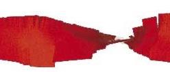 Crepe slinger rood 6 meter