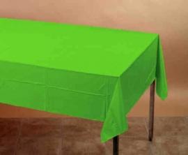 Effen kleur feestartikelen - lime groen tafelkleed