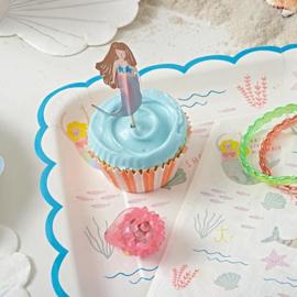 Meri Meri Let's be Mermaids bordjes (8st)