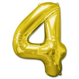XL Folieballon (92cm) Cijfer 4 | Goud