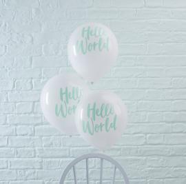 Hello World feestartikelen - ballonnen (10st)