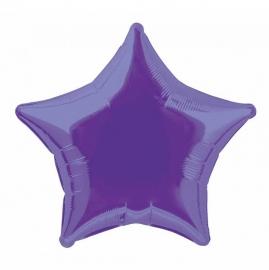 Folie/ helium ballon ster paars
