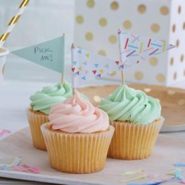 Pick & Mix feestartikelen - Confetti Sprinkles vlagprikkers (10st)