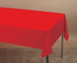Effen kleur feestartikelen Rood tafelkleed