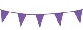 Vlaggenlijn/ vlagslinger paars (10m)