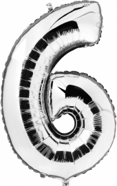 Folie/ helium ballon zilver 6