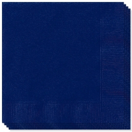 Effen kleur tafelgerei Blauw servetten (20st)