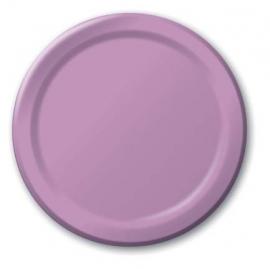 Feestartikelen Lavendel Paars/ Lila - borden (8st)