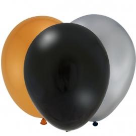 Finally 16 feestartikelen ballonnen goud (12st)
