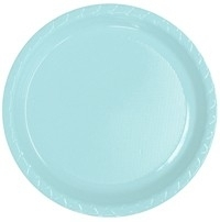 Feestartikelen zachtblauw - borden (16st)