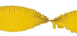 Crepe slinger geel 24 meter