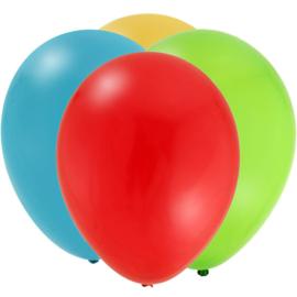Super Mario Bros feestartikelen - effen ballonnen (16st)