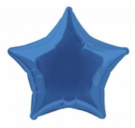 Folie/ helium ballon ster blauw
