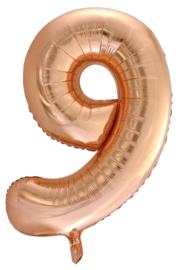 XL Folieballon (92cm) Cijfer 9 | Rose Gold