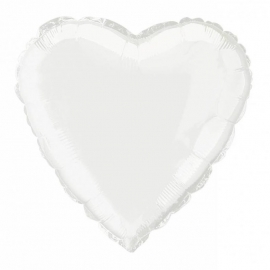 Folie/ helium ballon hart wit