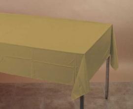 Effen kleur feestartikelen goud - tafelkleed