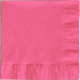 Effen kleur tafelgerei Roze servetten (20st)