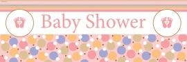 """""""Tiny Toes Pink"""" babyshower grote slinger"""