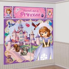 Prinses Sophia feestartikelen - scene setter/ muurposter