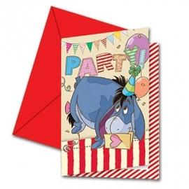 Winnie the Pooh feestartikelen uitnodigingen (6st)