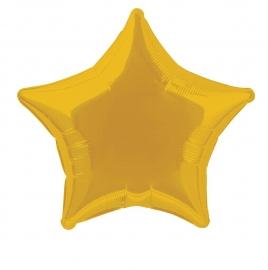 Folie/ helium ballon goud ster