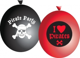 Piraten feestartikelen ballonnen (6st)