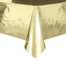 Goud feestartikelen | Metallic goud tafelkleed