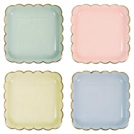 Love Pastel Mix feestartikelen - grote borden (8st)