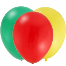Rupsje Nooitgenoeg feestartikelen effen ballonnen rood (12st)