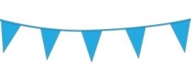 Vlagslinger/ vlaggenlijn zacht blauw (10m)