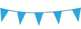 Vlagslinger/ vlaggenlijn lichtblauw (10m)