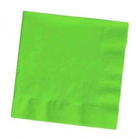 Effen kleur feestartikelen - Lime groen servetten (20st)