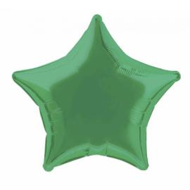 Folie/ helium ballon ster groen