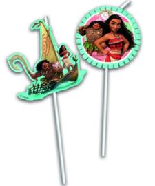 Disney Vaiana/ Moana feestartikelen - rietjes (6st)