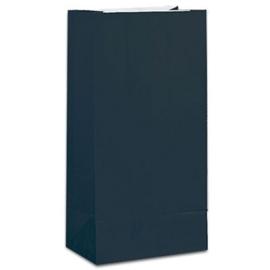 Effen gekleurde partybags zwart (12st)