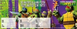 Ninja Turtles feestartikelen uitnodigingen (20st)