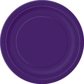 Feestartikelen Paars - borden (16st)