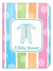 """Babyclothes"" babyshower uitnodigingen (8st)"