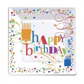 Happy Day verjaardag | grote borden (8st)