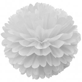 Pom Pom 2-delige set wit (25/35cm)