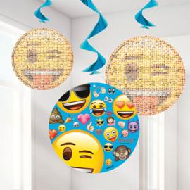EMOJI feestartikelen - hangdecoratie (3st)