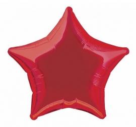 Folie/ helium ballon ster rood