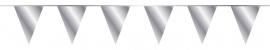 Vlaggenlijn/ vlagslinger zilver metallic (10m)
