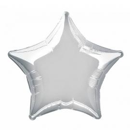 Folie/ helium ballon ster zilver