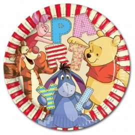 Winnie the Pooh feestartikelen borden (8st)